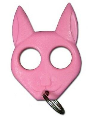 Pink Cat Self Safety Security Key Chain Ring Kubaton Keychain Pointed End