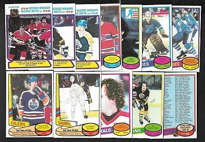 1980-81 Opc O Pee Chee Error Variation Nhl Hockey Card 1-132 See List