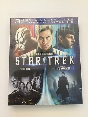 Star Trek 3 Movie Collection Blu-ray, and Digital HD, Brand New Sealed!!!