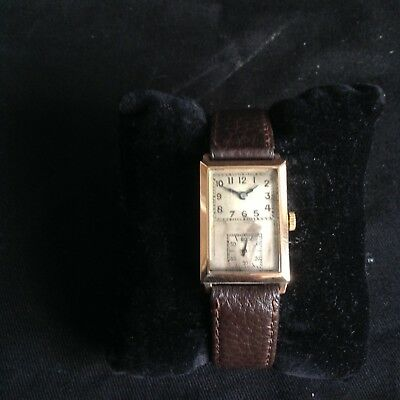 Wristwatch Vintage Solid 18k Gold Art Deco 1930's Doctors Watch Rare and Unusual