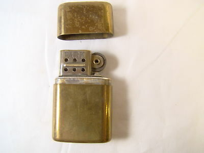 Nice Park Brass Windproof Pull Off Top Vintage 2 Piece Rare Lighter Sparking