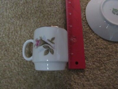 Chinese Rose Pattern Tea Cup teacup