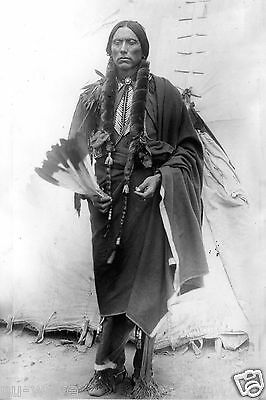 8x12 Photo of Comanche/American Indian War Leader Quanah Parker of the Nakoni