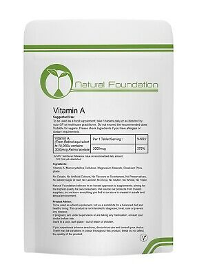 Vitamin A 10000iu Tablets High Strength Vitamins Immune System Bone Health