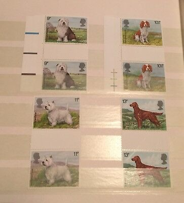 GB Stamps, DOGS Gutter Pairs