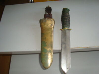 Soviet Russian heavy divers diving  knife helmet