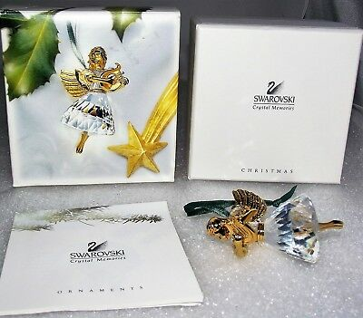 Swarovski Crystal 1998 Annual Angel Christmas Ornament New NIB+Box+COA