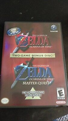 Legend Of Zelda Two Game Bonus Disc- Ocarina & Master Quest (Nintendo Gamecube)