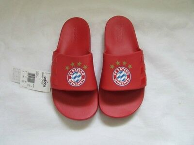FC Bayern Munich Adidas Aqualette Sliders Red Brand New With Tags Size 9