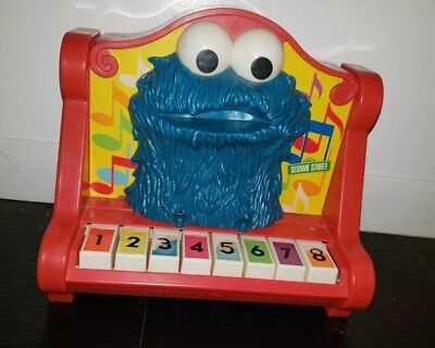 Vintage 1976 Cookie Monster (Sesame Street) Piano Child Guidance toy tested