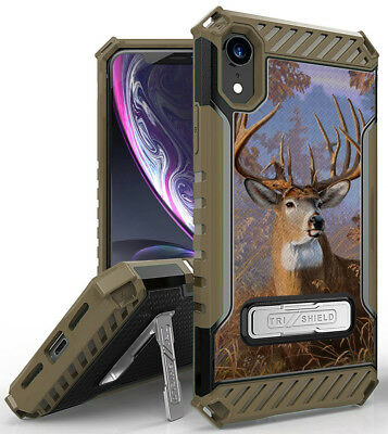 """Buck Deer Camo Outdoor Hunter Rugged Case Cover Stand for Apple iPhone XR 6.1"""""""