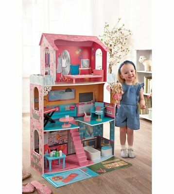 BRAND NEW - FASHION MANSION 3 STOREY KIDS DOLLS HOUSE With Accessories SAVE £100