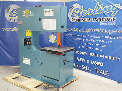 """36"""" Brand New DoALL (Variable Frequency AC Inverter) Vertical Contour Bandsaw 36"""