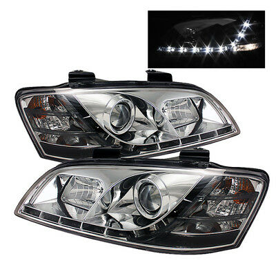 Pontiac 08-10 G8 Chrome Daytime Running LED Projector Headlights Set GT GXP Base