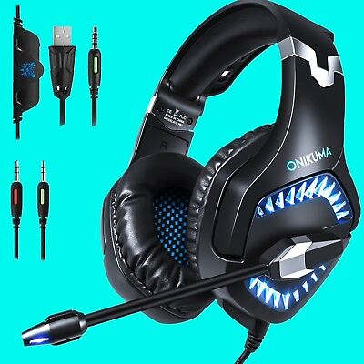 ONIKUMA K1 Pro Stereo PC Gaming Headset Headphone for PS4 New Xbox One with Mic