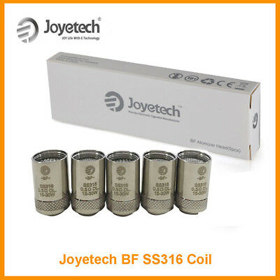 1Joyetech BF SS316 Coils Head 5pcs 0.5 0.6 1.0ohm for 1ego AIO 100% Original