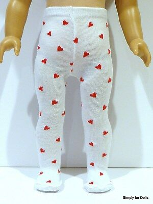 """WHITE DOLL TIGHTS fits American Girl 14.5/"""" WELLIE WISHERS DOLL"""