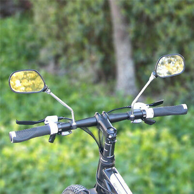 1 Pair Bicycle Cycling Bike Handlebar Flexible Back Rear View Safety Mirror UK