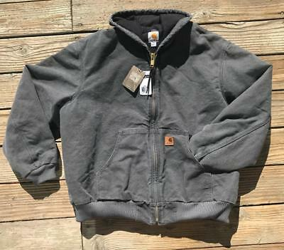 Carhartt Mens J130 Quilted-Flannel-Lined Sandstone Active Jacket Coat BIG & TALL