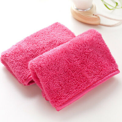 Reusable Microfiber Facial Cloth Face Towel Make-up Remover Cleansing Wash Tool