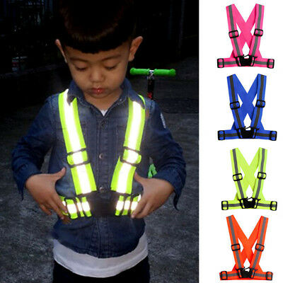 Highlight Safety Vest Reflective Security Visibility Gear Jacket Stripes For Kid