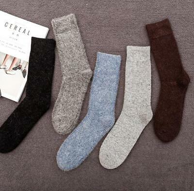 5 Pairs Angora 100% Cashmere Wool Mens Socks Super Warm Comforbtale Winter Gift