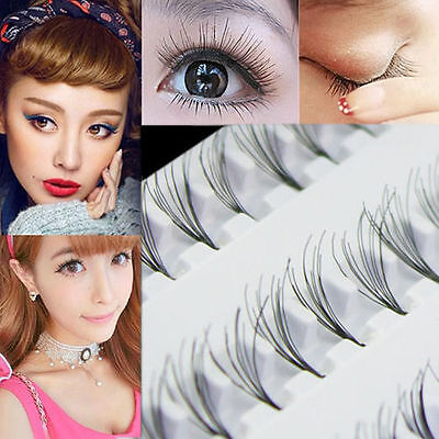 Femmes maquillage 60 extension plateau individuel faux cils cluster Eye cils  LC