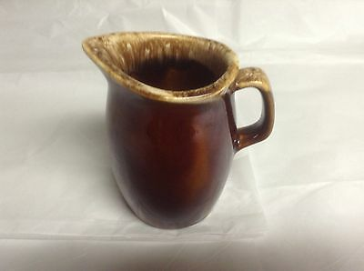 Vintage Hull Pottery Creamer , Brown Drip Glaze Serving Piece- Proof Usa
