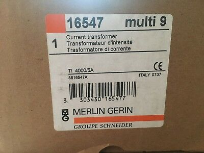 Merlin Gerin Current Electrical Transformer Busbar Multi 9 TI Straight 4000/5A