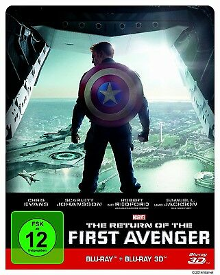 The Return Of The First Avenger 3D - Captain America 2 -- Steelbook / Bluray +2D
