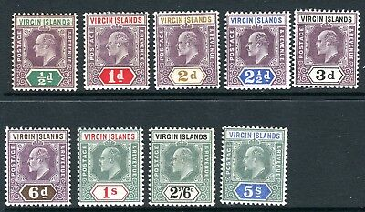 BRITISH VIRGIN ISLANDS-1904  A mounted mint set to 5/- Sg 54-62