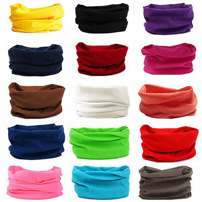 Outdoor Multifunction Tube Scarf Solid Color Scarf Bandana Scarf Bicycle magic !