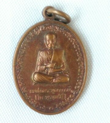 Pendant Thai Amulet Talisman Buddha LP.Toh  Protection Life From danger Fortune