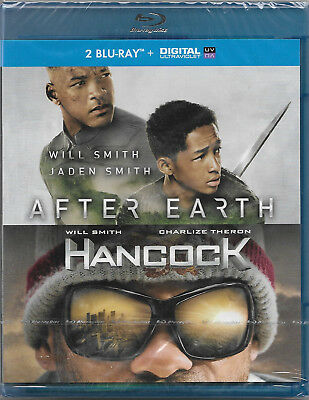 2 Blu-ray avec Digital UV : AFTER EARTH + HANCOCK [ Will Smith ] NEUF cellophané