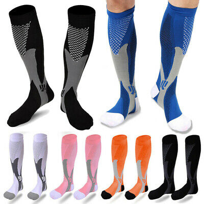 Compression Socks Medical Travel Stockings Running Flight Sleeve Anti Fatigue Bm
