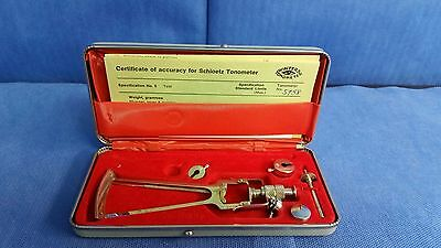 Schioetz Tonometer Improved w/ Autoclavable Case