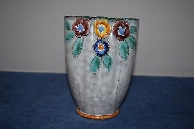 Vintage Hand Painted Hand Crafted Italian Pottery Vase Collectible