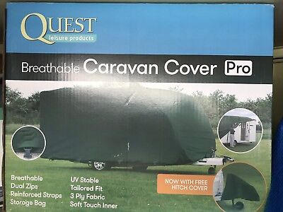 CoverPro Premium Breathable 4-Ply Full Green Caravan Cover - Fits 23-25ft
