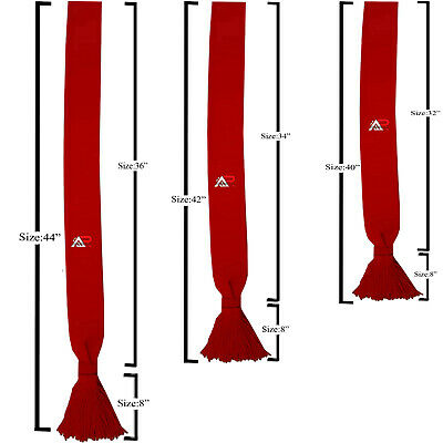 Scarlet Red Infantry Shoulder Sash Ceremonial Acrylic British Army With Tassel