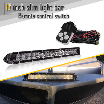 "17""in 80W LED Light Bar Combo Offroad Driving Light For Truck ATV UTE Single Row"