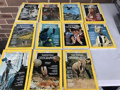 Vintage 1969 National Geographic Magazines - 10 Issues Available,
