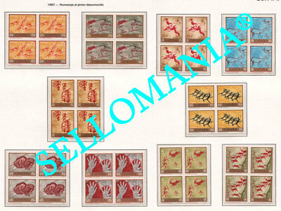 1967 Pinturas Rupestres Cave Paintings Cuevas Caves  1779 / 88 ** Mnh B4 Tc21808
