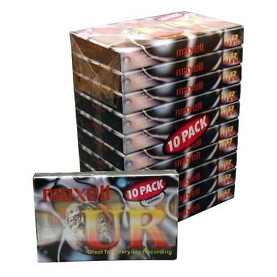NEW Maxell UR90 90 Minutes Blank Audio Media Recording Cassette Tapes - 10 Pack