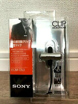SONY Condenser Compact Business Stereo Microphone Tie Clip ECM-CS3 NEW