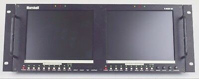 Marshall V-R72DP-2C Dual Monitor (B12D) Rackmount with Blemishes