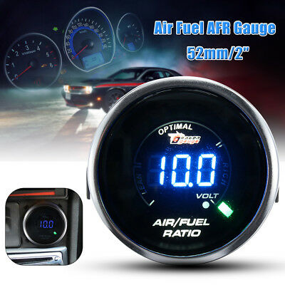 Smoke Len 2''52mm Air Fuel Ratio AFR/Volt Blue Digital LED Combo Gauge Universal