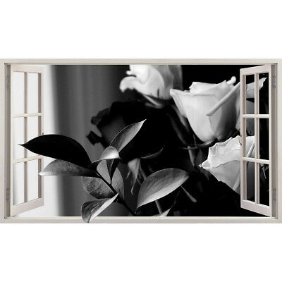 M784 Roses Flowers Nature Garden Wall Stickers Bedroom Girls Boys Living Room
