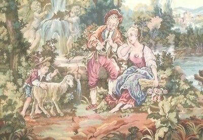 Wall Hanging Tapestry Romantic Old World Vintage Design Excellent Condition