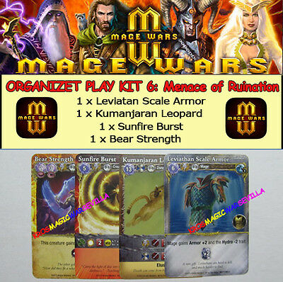 MAGE WARS: MENACE OF RUINATION OP KIT 6 (ONLY PROMO CARDS) - Menace of Ruination