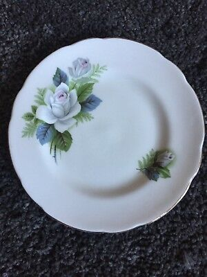 Royal Sutherland Blue Floral Side Plate Vintage Tea Party